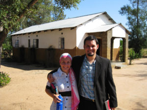 The church we attended in South Africa, with us wearing the sort of clothes that were considered necessary for church services there.