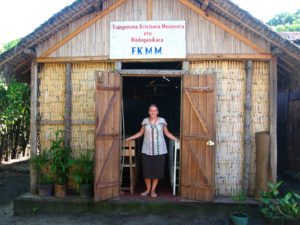 A church in Tamatave, Madagascar, built in the local style and started by YWAM, the organization we'll be working with there.