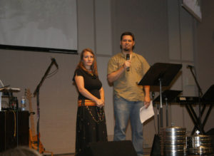 Speaking from the stage at our home church in Jenks, OK.