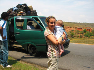 Our taxi broke down on the way to Antsirabe