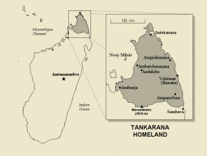 The Antakarana homeland in Northern Madagascar.