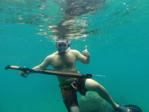 One of my first few trips spearfishing with the guys on the team, and my first time to catch lots of fish!