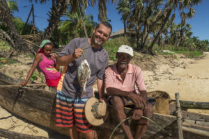 My share of the catch from going fishing the local way in a canoe with our headman on Nosy Mitsio.