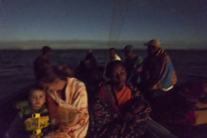 Our family's last trip out to Nosy Mitsio, sailing with a local boat in the very early morning hours.