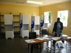 Voting Station in Dumphries