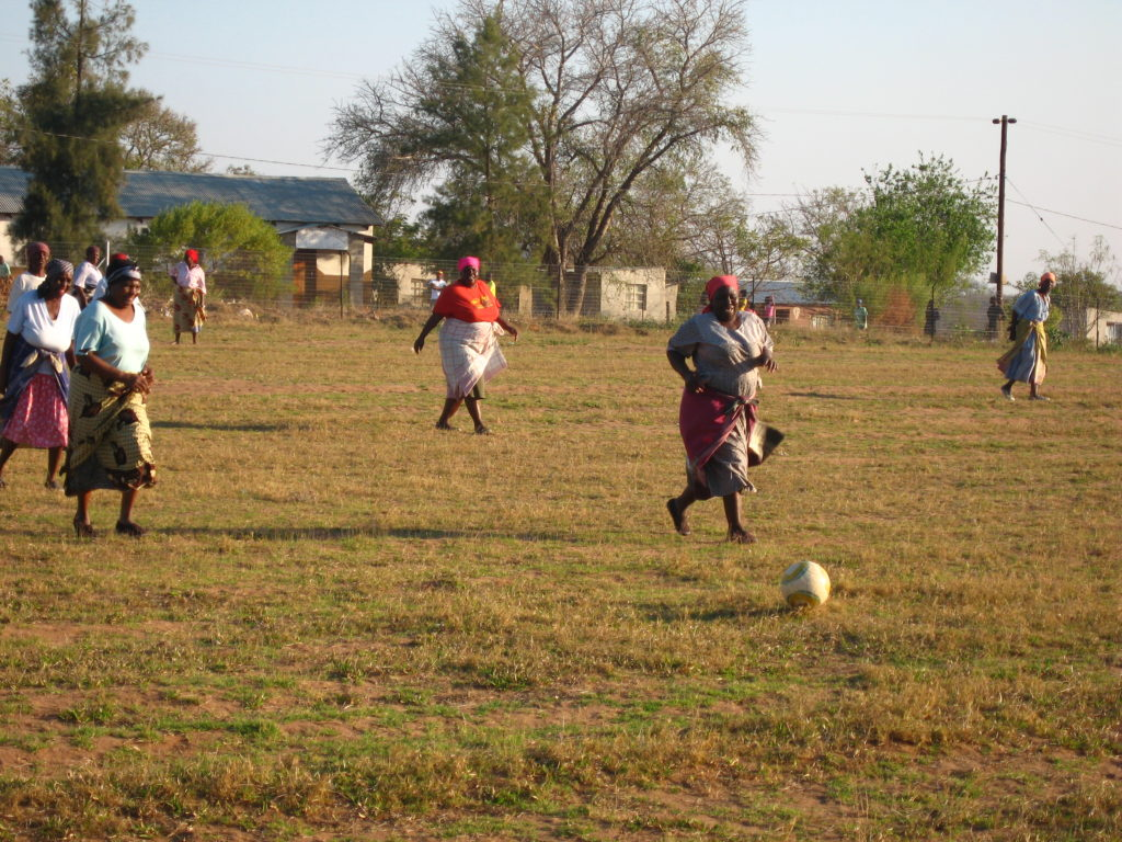 Kokwana (grandmother) soccer