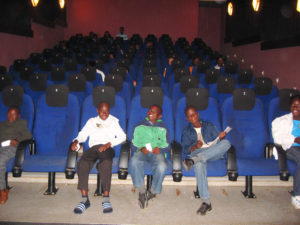 Dumphries kids in a movie theater
