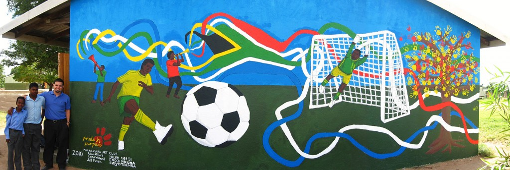 World Cup Mural painting by Mahlahluvana Art Club