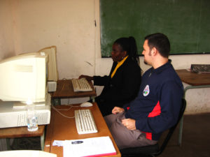 computer training with educators at Mahlahluvana
