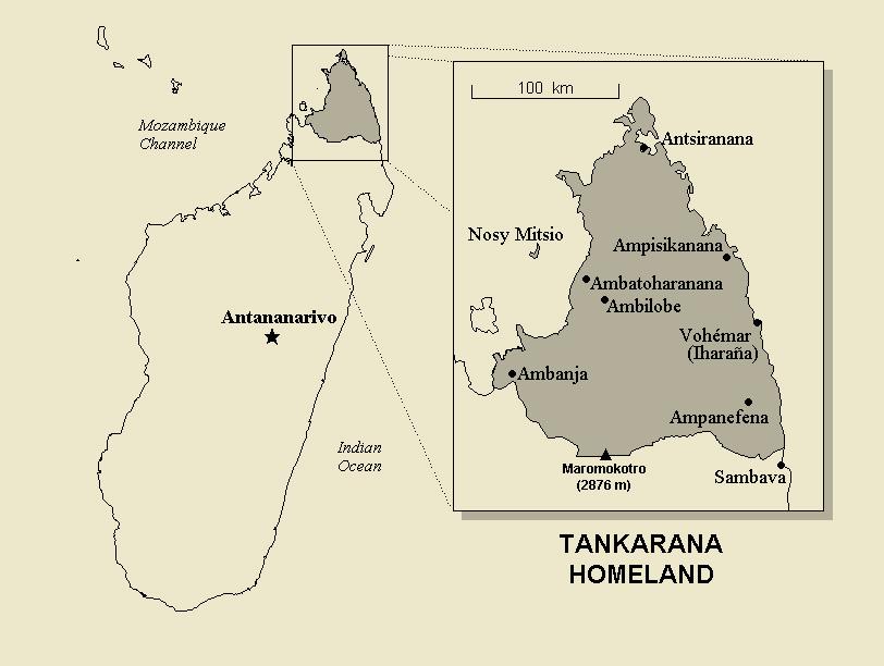 The Antakarana homeland in Northern Madagascar.