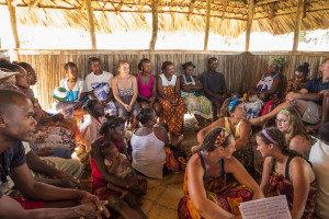 Community healthcare meeting on Nosy Mitsio