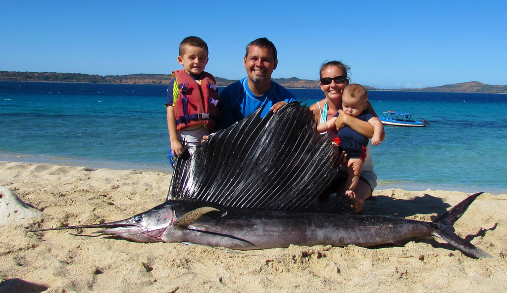 We certainly never expected to find one of these in the nearby ocean! On a recent boating trip, our team caught this massive sailfish. It was awesome! It tasted great!