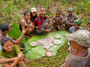 Any time Malagasy get together, there's a feast of rice! Or, even when they eat alone.