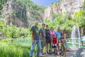 "Enjoying the beautiful ""Hanging Lake"" while on vacation with the Willard family in Colorado!"