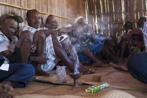 Antakarana people practicing Islamic rituals at a funeral
