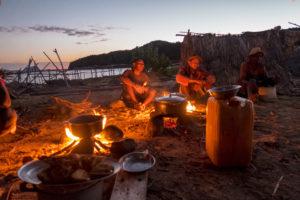 Around the campfire on Nosy Lava