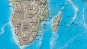 Madagascar is off the southeast coast of Africa