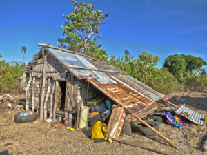 The rice storage hut we stayed in for several months when we first moved to Nosy Mitsio