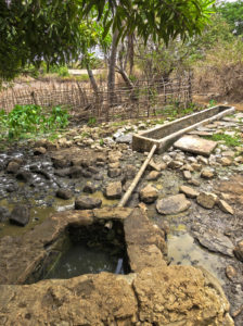 The well we first used when arriving on Nosy Mitsio