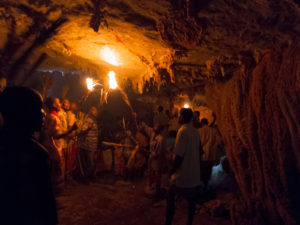 Torchlight in the ancestral caves