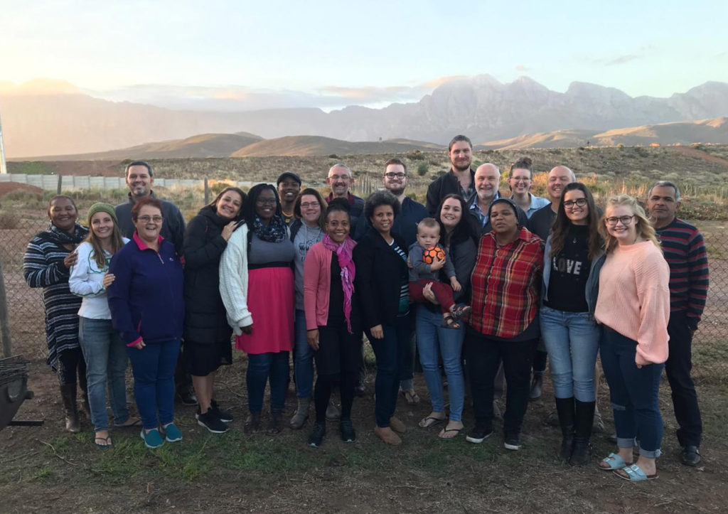 """Some of our friends and classmates from the """"Member Care"""" training course at YWAM Worcester in South Africa."""