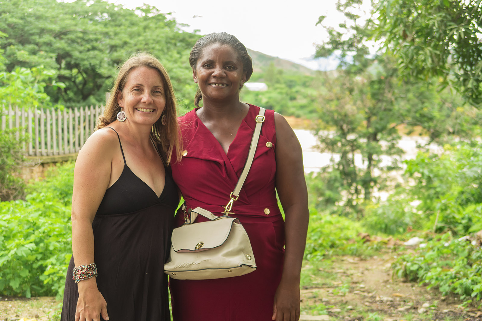Lora with one of her good friends in town at Christmastime.  She's also one of the ladies we've been doing outreach together with.