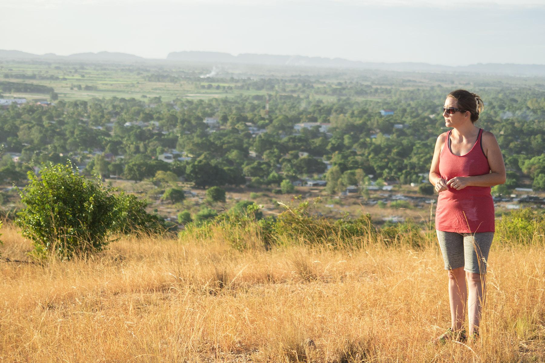 Lora up on a hill overlooking Ambilobe.