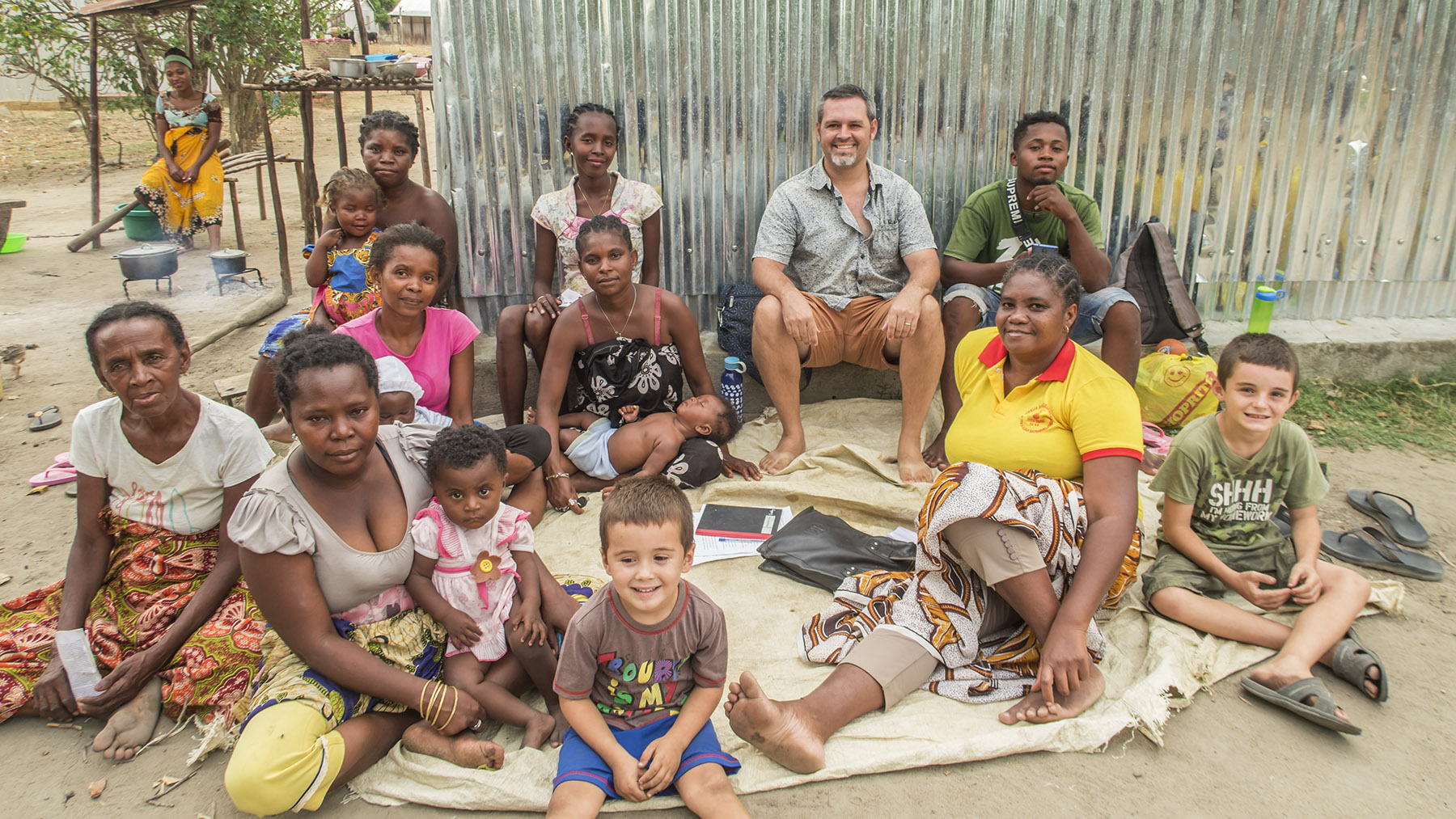 The discipleship group in Antanamazava.  Nuckiline is sitting towards the right in the yellow shirt.