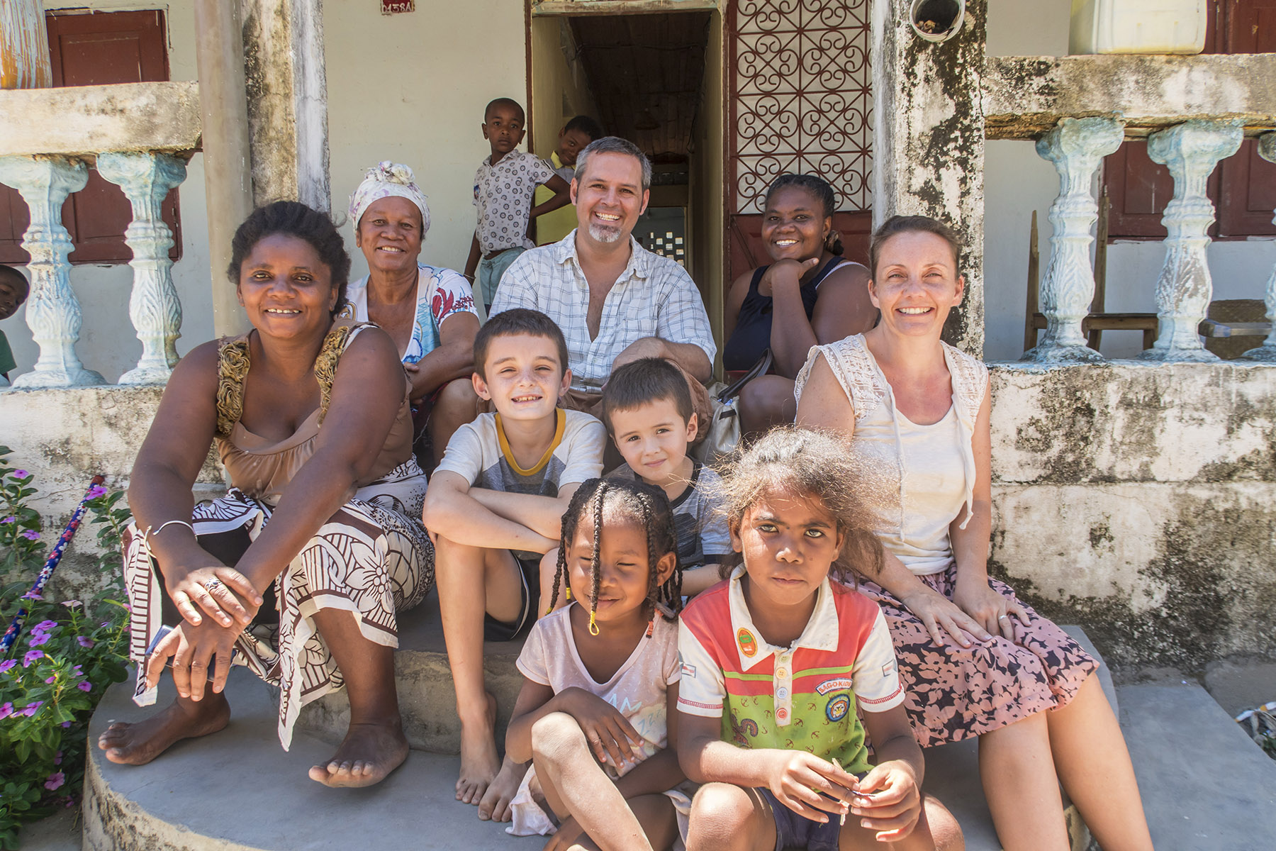 Some of our best friends in Ambilobe, saying goodbyes the morning we left.  Nuckiline is at the back right.