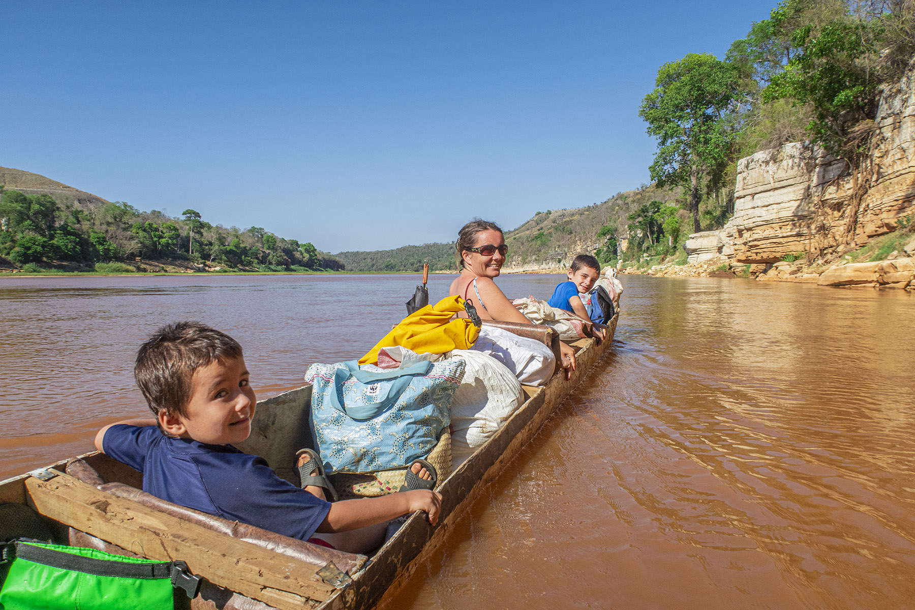 """Just before we left Madagascar, we took a three-day canoe trip to get to the """"Avenue of Baobabs"""".  It was a great time for our family and a great way to say goodbye to the country that was our home for so many years!"""
